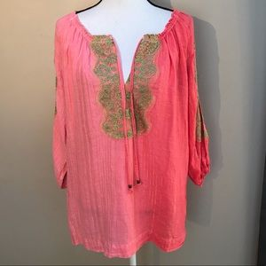 Soft Surroundings Tunic Slit Sleeved Top Size XL